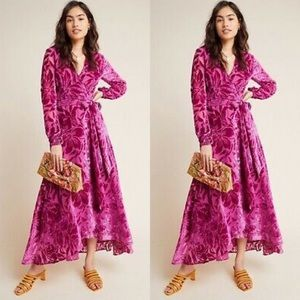 ANTHROPOLOGIE Daniella Velvet Maxi Dress